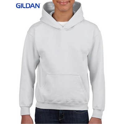 Gildan Heavy Blend Youth Hooded Sweatshirt White